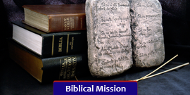 the Ten Commandments with Bibles on a Black Background - Bible Study Fellowship